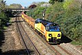 Creech St Michael - Colas 70802 empty spoil wagons for Bath.JPG