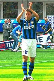 Crespo con la maglia dell'Inter durante la stagione 2007-2008.