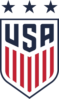Crest of the United States women's national soccer team (three stars)