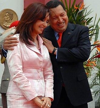 Suitcase scandal - Cristina Fernández de Kirchner with Hugo Chávez.