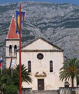 Makarska Co-cathedral church building in Makarska, Croatia