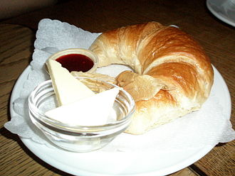 Global cuisine - French Cafés often offer Croissants for breakfast.
