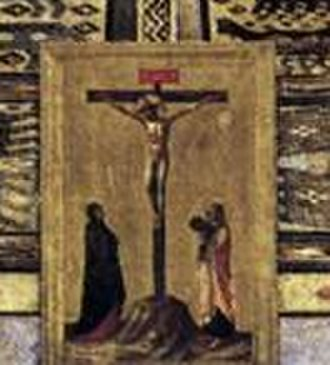 San Marco Altarpiece - Detail of the Crucifixion pax