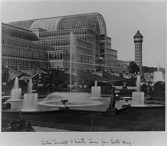Хрустальный дворец в Сиднем-Хилле, фото 1854г.