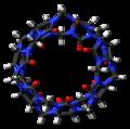 Cucurbit(7)uril (top) 3D stick.png