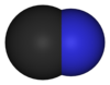 Space-filling model of the cyanide anion