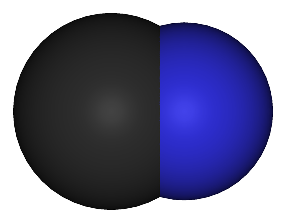 Ball-and-stick model of the cyanide anion