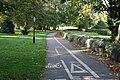 Cycle track to Carshalton, in Beddington Park - geograph.org.uk - 587476.jpg
