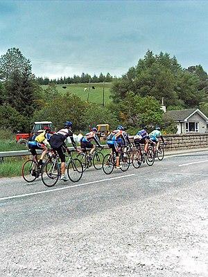 English: Cycling Club A Cycling club out on a ...