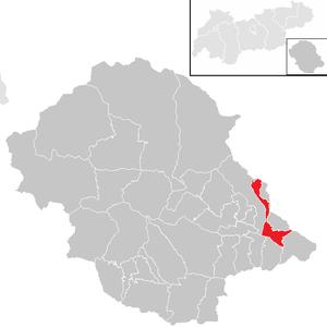 Dölsach - Image: Dölsach im Bezirk LZ