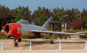 Mikoyan-Gurevich MiG-15 - A Korean People's Army Air Force MiG-15 at the Chinese Aviation Museum