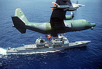 DC-130H Hercules drone control with a pair of AQM-34 Firebee.JPEG