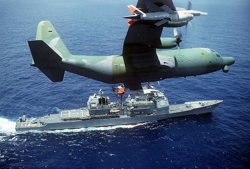 File:DC-130H Hercules drone control with a pair of AQM-34 Firebee.JPEG