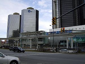 Jefferson Avenue (Detroit) - The Detroit People Mover's Renaissance Center station is on Jefferson Avenue.