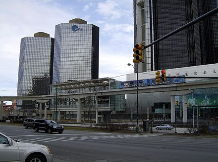 EDS in Tower 500 at the Renaissance Center in Detroit, Michigan DPMoverRenCenstop.jpg