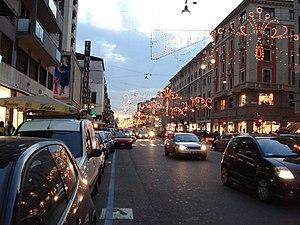 Corso Buenos Aires - Corso Buenos Aires during the Christmas holidays.
