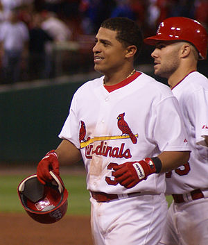 César Izturis - Izturis with the St. Louis Cardinals on September 9, 2008.