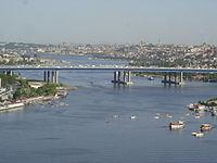 DSC04814 Istanbul - Vista del Corno d'Oro dal café Loti di Eyüp - Foto G. Dall'Orto 30-5-2006.jpg