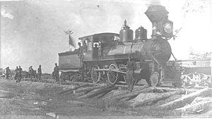 Duluth, South Shore and Atlantic Railway - DSSA locomotive, circa 1887