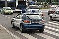 Daewoo Lanos police squad car of Policja on Marii Konopnickiej avenue in Kraków (1).jpg