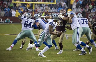 Dak Prescott - Prescott in a game against the Washington Redskins