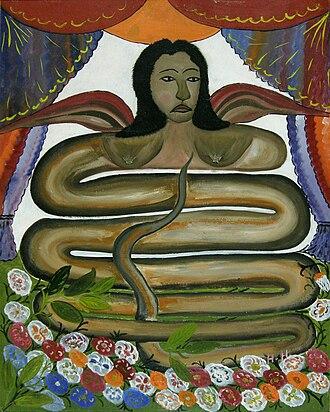 Damballa - Damballah La Flambeau, by the Haitian artist Hector Hyppolite.