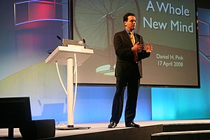 Daniel Pink speaking at the Chartered Institut...