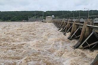 Lake Dardanelle - Dardanelle Lock and Dam (Lock 10), 2015