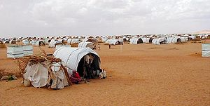 Tent city - Tent city of 40,000 in Darfur.