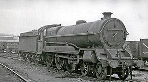 GCR Class 9Q - LNER 1386, (formerly 5034), at Darnall Locomotive Depot in 1949