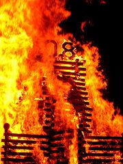 A bonfire at Dartmouth College