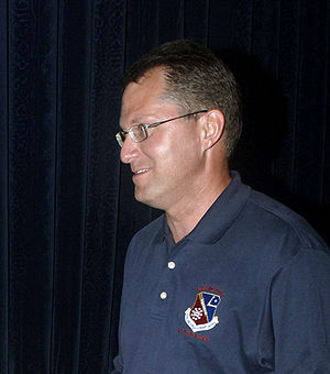 Dave Pelzer - Pelzer speaking to Airmen while visiting troops in Southwest Asia.