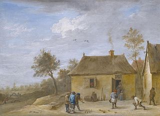 Landscape with Skittles Players