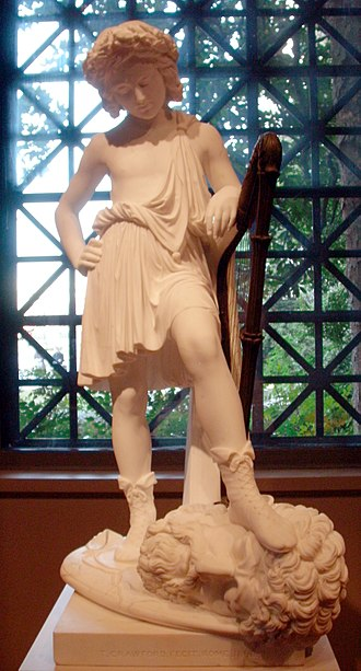 Thomas Crawford (sculptor) - David Triumphant, marble and bronze, 1848, in the National Gallery of Art