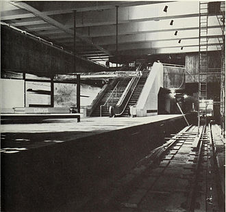 Davis station (MBTA) - Davis station under construction in 1983
