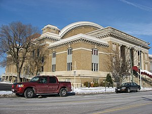 Dayton Memorial Hall - Front and western side of the hall