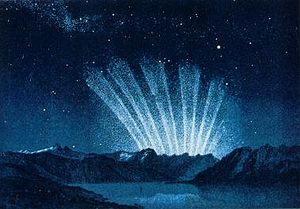 Great Comet of 1744 - The tails of C/1743 X1, the Great Comet of 1744, extending above the horizon before sunrise on March 9, 1744