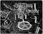 """De Telegraaf vol 040 no 14849 Avondblad Kasteel """"De Haar"""" te Haarzuilens, een der fraaiste bezittingen in Utrecht, uit de lucht gezien.jpg"""