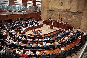 Assembly of Madrid - Image: Debate del Estado de la región 2009