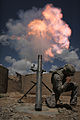 Defense.gov News Photo 100518-A-4544P-108 - U.S. Army Sgt. Joshua Morris shoots a mortar round from a 120 mm mortar tube during a training and certification test at a combat outpost in.jpg