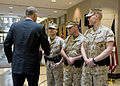 Defense.gov News Photo 100614-D-7203C-008 - Deputy Secretary of Defense William J. Lynn III left meets with U.S. Marines assigned to the U.S. Embassy in Ottawa, Canada, on June 14, 2010.jpg