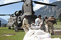 Defense.gov News Photo 100811-A-3996M-046 - Pakistani men throw a bag of flour onto a pile behind a U.S. Army CH-47 Chinook helicopter that arrived to deliver humanitarian assistance and help.jpg