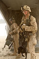 Defense.gov News Photo 120328-M-NF414-294 - U.S. Marine Corps Sgt. Kyle Harrison right a crew chief with Marine Medium Tiltrotor Squadron 365 stands watch as Marines with the 2nd.jpg