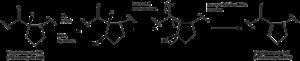 Streptogramin A - Image: Dehydration of Virginiamycin M1