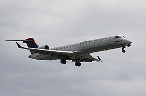 Delta Connection - A Delta Connection Bombardier CRJ-701, operated by SkyWest, landing at Vancouver