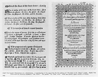 Abraham Fleming - Of English Dogges, 1576