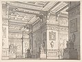 Design for a Stage Set?-Interior of a Stateroom with Four Tables Displaying Urns and Tabernacles. MET DP811527.jpg
