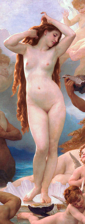 Female body shape - Detail from The Birth of Venus by William-Adolphe Bouguereau, 1879