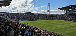 Dick's Sporting Goods Park - Dicks Sporting Goods park during a game between the Colorado Rapids and Los Angeles Galaxy (November 2016)