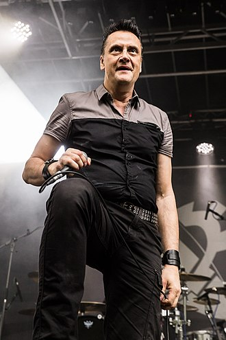 Die Krupps - Singer Jürgen Engler at Nocturnal Culture Night 2018